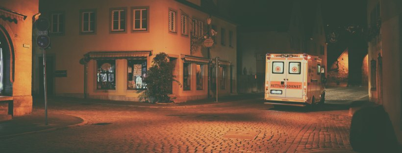 Ambulance by Marc Schaefer on Unsplash: How to Walk Away by Katherine Center (The Modest Reader)