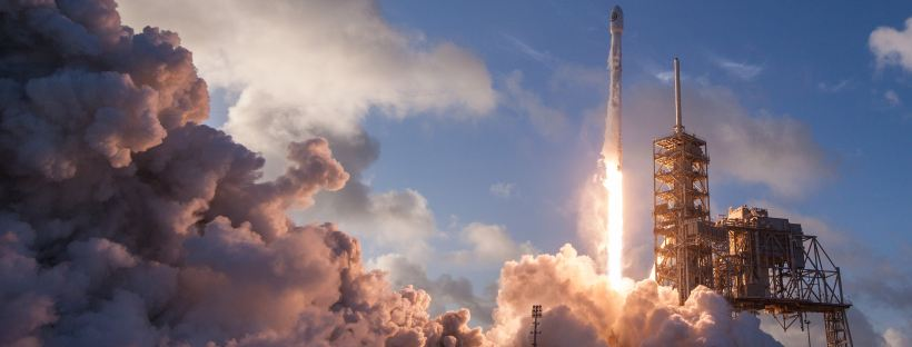 Liftoff by SpaceX on Unsplash: The Gravity of Us by Phil Stamper (The Modest Reader)